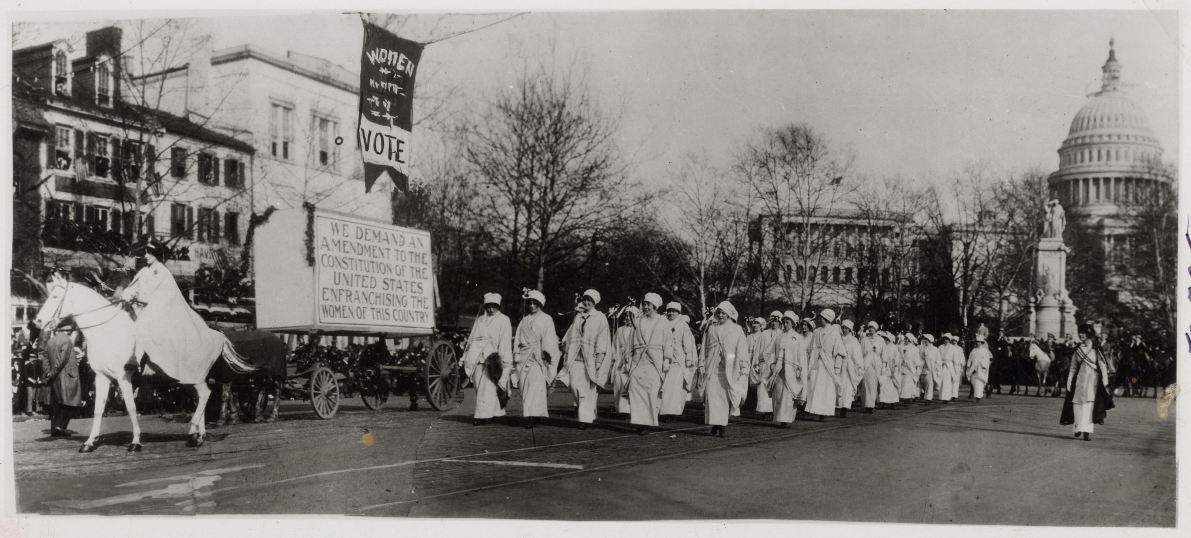 Women march in a suffrage parade, Washington, DC